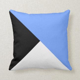 暗藍色斜め色のブロックの装飾者の枕 クッション