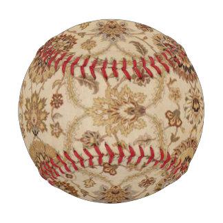 暗褐色の黄褐色の花のペルシャのタペストリーのデザイン 野球ボール