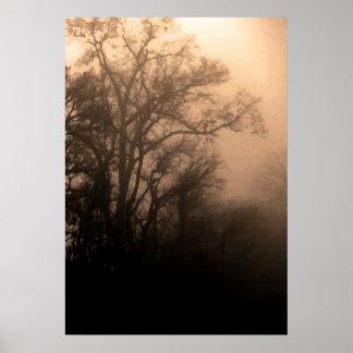 暗闇とライト間 ポスター