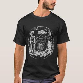暗闇によって歪められるシールのTシャツ Tシャツ