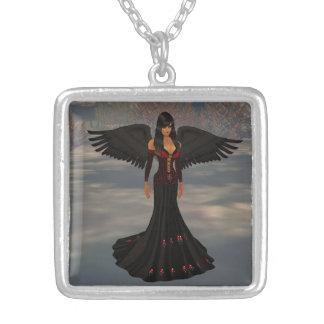 暗闇のネックレスの天使 シルバープレートネックレス