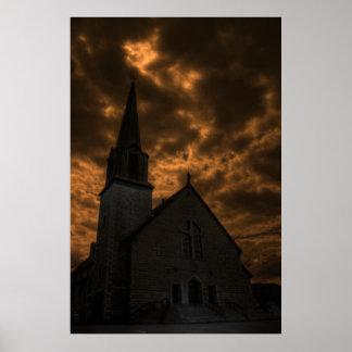 暗闇の不吉な教会 ポスター
