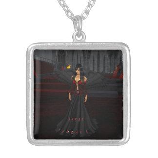 暗闇の天使のネックレス シルバープレートネックレス