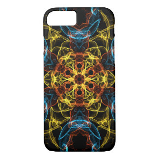 暗闇の抽象的な万華鏡のように千変万化するパターン iPhone 7ケース