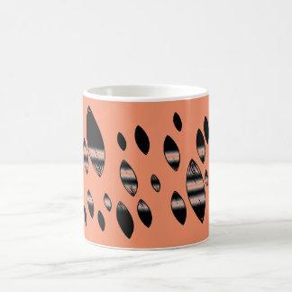 暗闇の抽象的な花びら コーヒーマグカップ