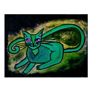 暗闇の猫 ポストカード