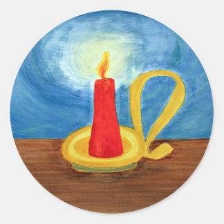 暗闇の蝋燭 ラウンドシール