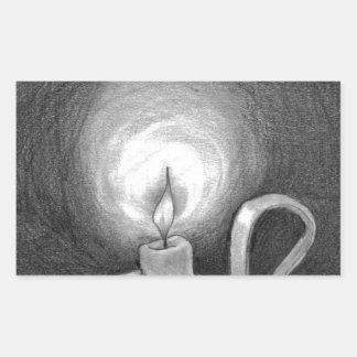暗闇の蝋燭 長方形シール