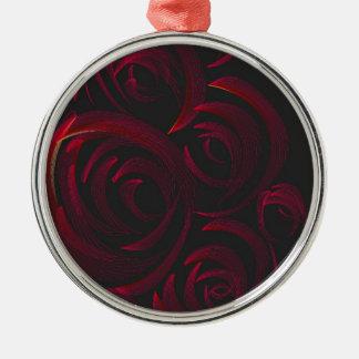 暗闇の赤いバラ メタルオーナメント