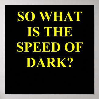 暗闇の速度 ポスター