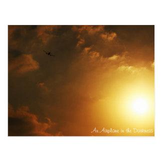 暗闇の飛行機、魅力の郵便はがき ポストカード