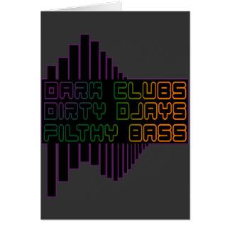 暗闇はDjays汚れた不潔な低音クラブDJを協力させます カード