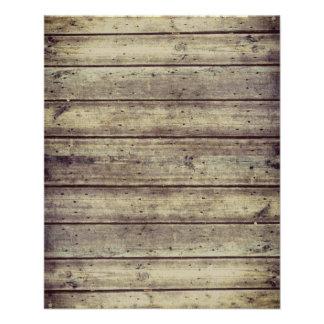 暗闇Antiqued Plankedの木製のスクラップブックの紙 チラシ