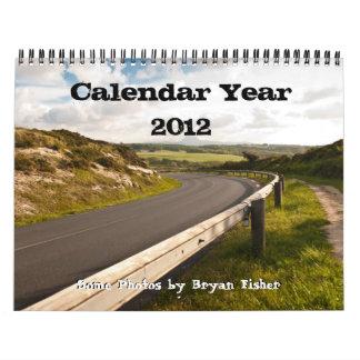 暦年2012年、Bryanフィッシャー カレンダー