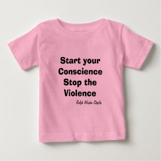 暴力のベビーをストップ ベビーTシャツ