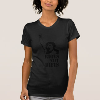 暴動のないダイエットの女性 Tシャツ