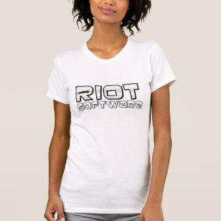暴動ソフトウェア女性のT Tシャツ