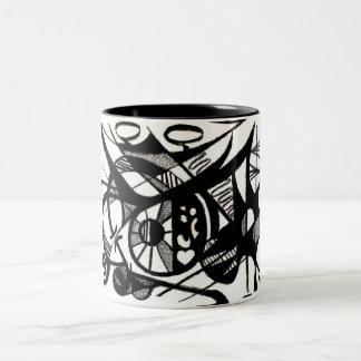 暴露の油のパステル調のデザイン ツートーンマグカップ