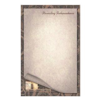 暴露の独立- Steampunkの文房具 便箋