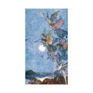暴風雨からの小妖精や小人そして妖精 キャンバスプリント