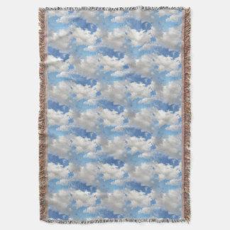 曇った天候-編まれた毛布 スローブランケット