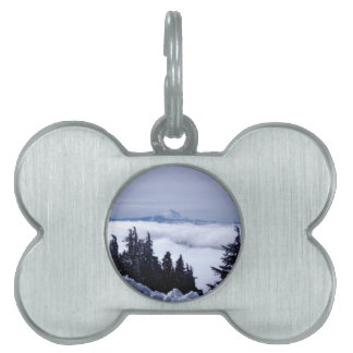 曇った山 ペットネームタグ