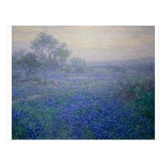 """""""曇った日Bluebonnetsは近づきますサン・アントニオ""""に ポストカード"""