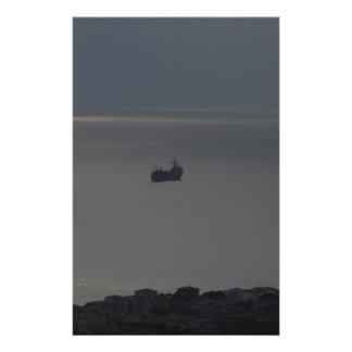 曇った海および落日 便箋