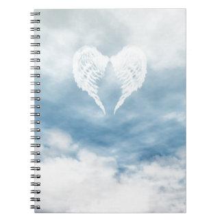 曇った青空の天使の翼 ノートブック