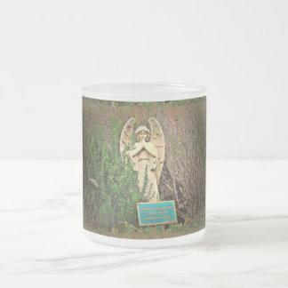 曇らされたガラスのマグ-セドナの天使 フロストグラスマグカップ