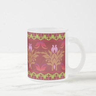 曇らされたガラスMaug -民族の赤 フロストグラスマグカップ
