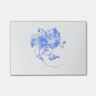 曇らされた花のフラクタルのポスト・イットのパッド ポスト・イット®ノート