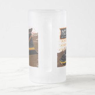 曇らされた16のozの曇らされたガラスのマグ フロストグラスビールジョッキ
