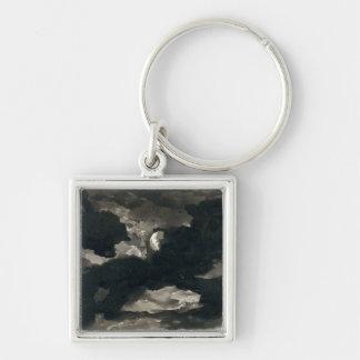 曇らせていた月明りの空(置かれるの勉強の黒い洗浄 キーホルダー