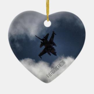 曇り空のF-16 セラミックオーナメント