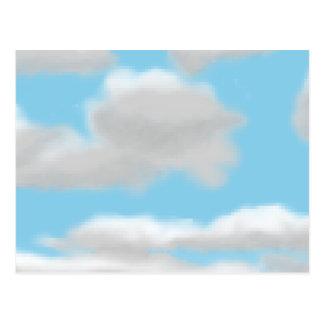 曇り空ピクセル芸術の郵便はがき ポストカード