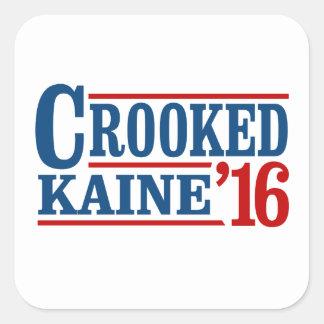 曲がったクリントンKaine 2016年 -- スクエアシール