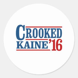 曲がったクリントンKaine 2016年 -- ラウンドシール