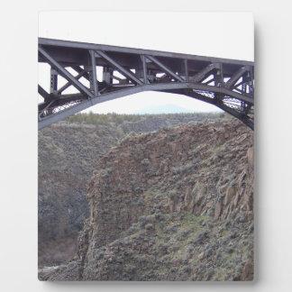 曲がった川橋 フォトプラーク