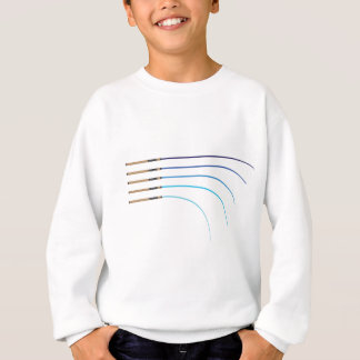 曲がった釣ざおのベクトルによって曲げられる棒のブランク スウェットシャツ
