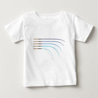 曲がった釣ざおのベクトルによって曲げられる棒のブランク ベビーTシャツ