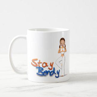 曲げやすいヨガのマグの滞在 コーヒーマグカップ