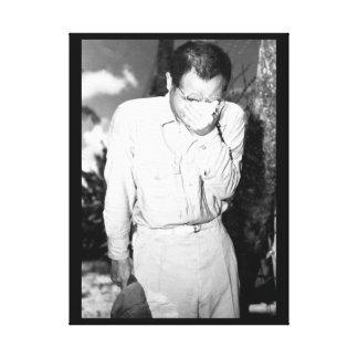 曲げられたhead_Warイメージのグアムの日本のな捕虜、 キャンバスプリント