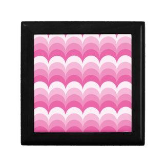 曲線の波のピンク ギフトボックス
