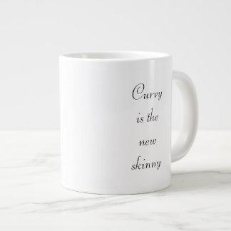 """""""曲線新しく細い""""ジャンボマグはです ジャンボコーヒーマグカップ"""