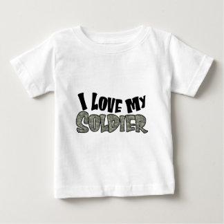 曲線I愛私の兵士 ベビーTシャツ