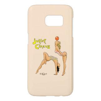 曲芸師のJulietのサーカスの電話箱 Samsung Galaxy S7 ケース