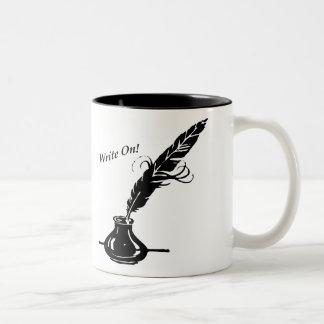 書いて下さい! コーヒーカップのクイルインク ツートーンマグカップ
