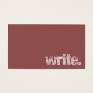 書いて下さい: フリーランス・ライター、作家Marsala 名刺