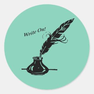 書いて下さい! 作家のためのクイルインク ラウンドシール